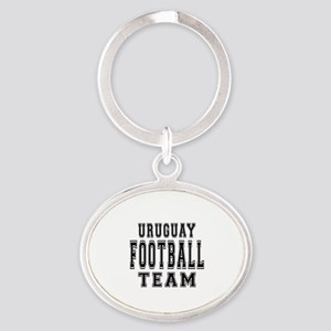 Uruguay Football Team Oval Keychain