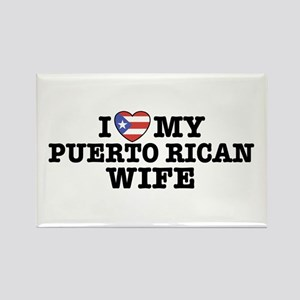 I Love My Puerto Rican Wife Rectangle Magnet