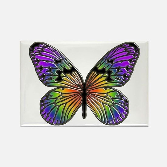 Rainbow Butterfly Rectangle Magnet (100 pack)