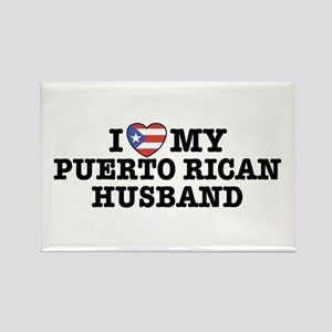 I Love My Puerto Rican Husband Rectangle Magnet