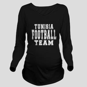 Tunisia Football Tea Long Sleeve Maternity T-Shirt