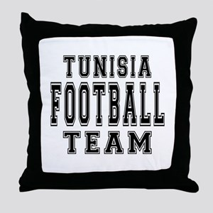 Tunisia Football Team Throw Pillow