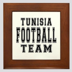 Tunisia Football Team Framed Tile