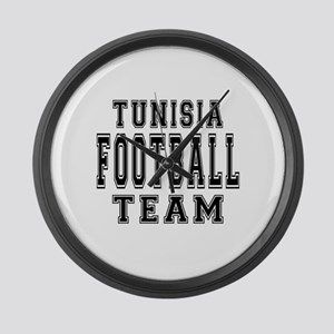 Tunisia Football Team Large Wall Clock