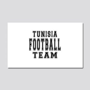 Tunisia Football Team Car Magnet 20 x 12