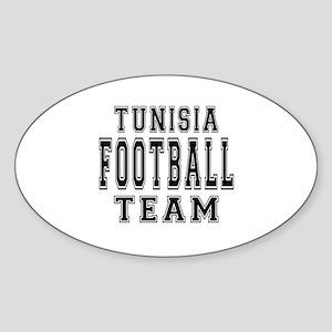 Tunisia Football Team Sticker (Oval)