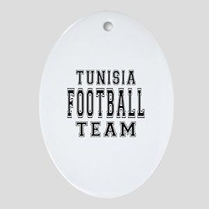 Tunisia Football Team Ornament (Oval)