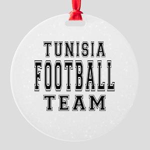 Tunisia Football Team Round Ornament