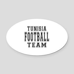 Tunisia Football Team Oval Car Magnet