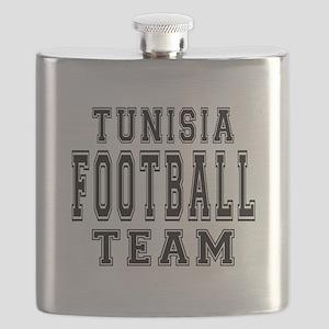 Tunisia Football Team Flask