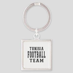 Tunisia Football Team Square Keychain