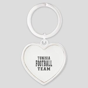 Tunisia Football Team Heart Keychain