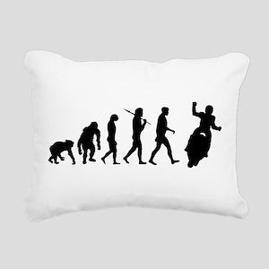 Motorcycle Evolution Rectangular Canvas Pillow