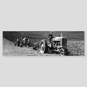 Plowing in 1950 Bumper Sticker