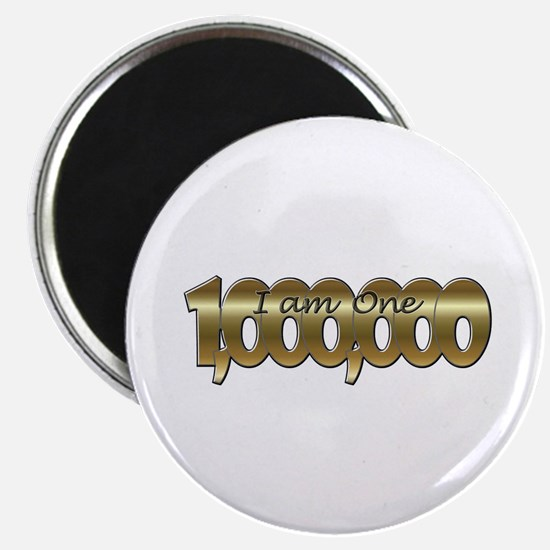 I am one in a million gold Magnets