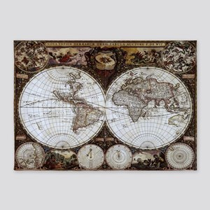 Ancient World Map 5'x7'Area Rug