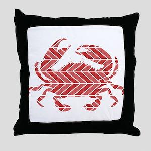 Chevron Crab Throw Pillow