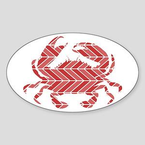Chevron Crab Sticker