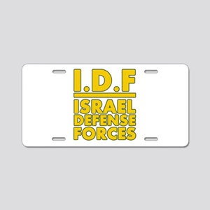 IDF Israel Defense Forces2 - Yellow Aluminum Licen