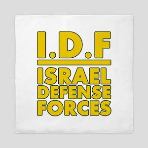 IDF Israel Defense Forces2 - Yellow Queen Duvet