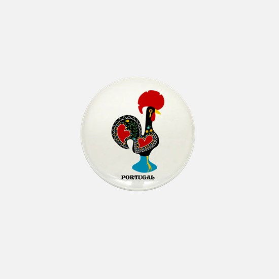 Portuguese Rooster of Luck Mini Button