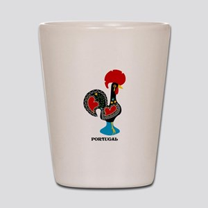 Portuguese Rooster of Luck Shot Glass