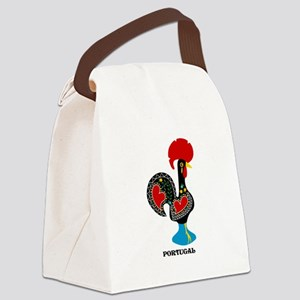 Portuguese Rooster of Luck Canvas Lunch Bag