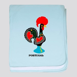 Portuguese Rooster of Luck baby blanket