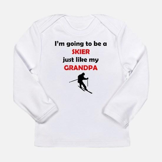 Skier Like My Grandpa Long Sleeve T-Shirt