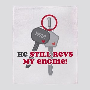 He Revs My Engine 1 Throw Blanket