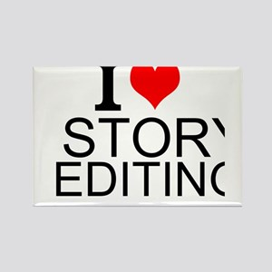 I Love Story Editing Magnets