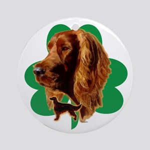 luck of Irish setter Madeline wil Ornament (Round)