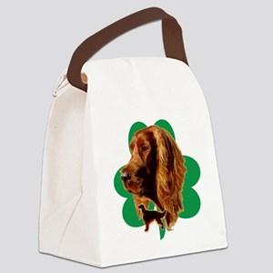 luck of Irish setter Madeline wil Canvas Lunch Bag