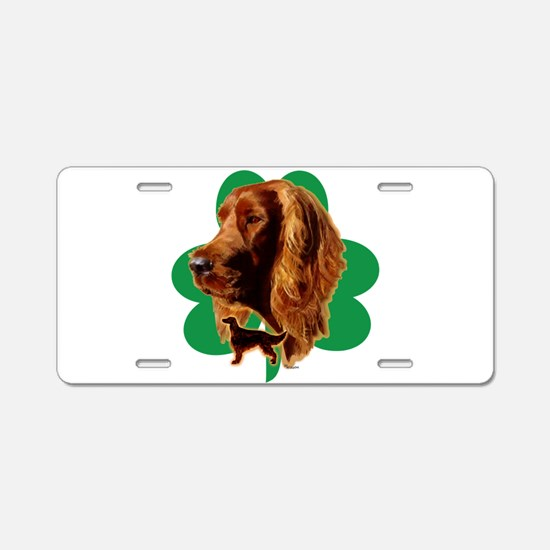 luck of Irish setter Madeli Aluminum License Plate