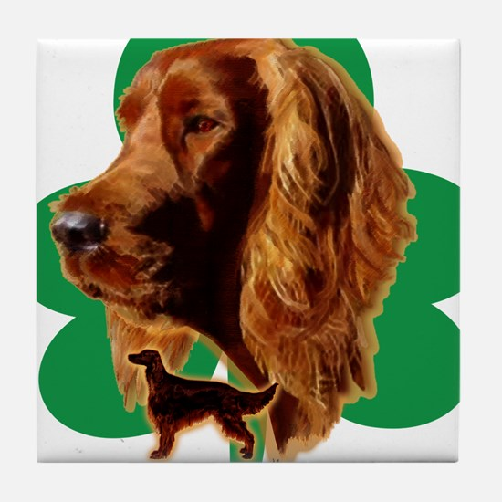 luck of Irish setter Madeline wilson Tile Coaster