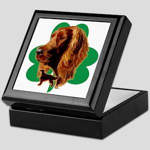 luck of Irish setter Madeline wilson Keepsake Box