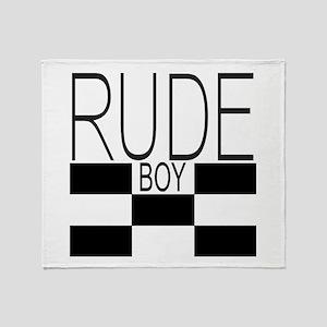 RUDE BOY Throw Blanket