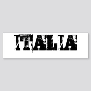 ITALY TRASHED Bumper Sticker