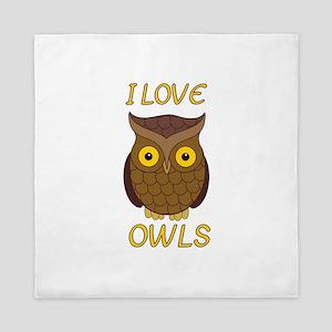 I Love Owls Queen Duvet