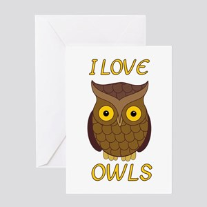 I Love Owls Greeting Card