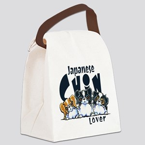 Japanese Chin Lover Canvas Lunch Bag