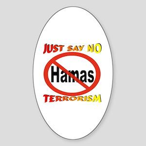 No Hamas International Symbol Sticker (Oval)