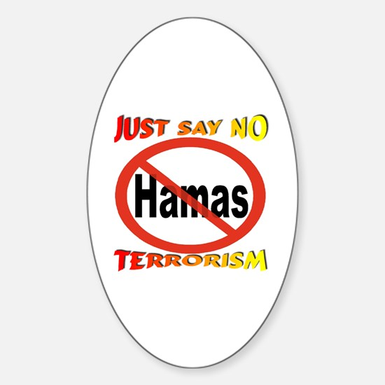 No Hamas International Symbol Sticker (Oval)