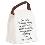 The Favorite Child Canvas Lunch Bag