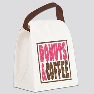 Donuts & Coffee Canvas Lunch Bag