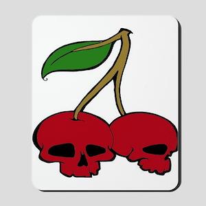 Skull Red Cherries Mousepad