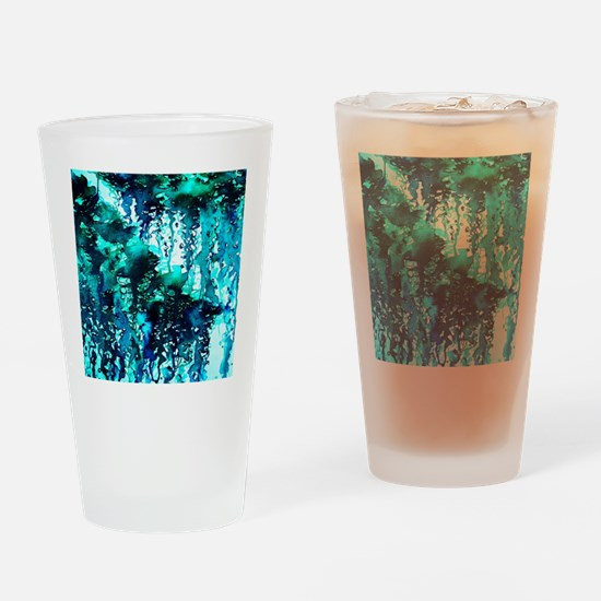 The Perfect Storm - Turquoise and B Drinking Glass