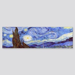 Van Gog The Starry NIght Tassel S Sticker (Bumper)