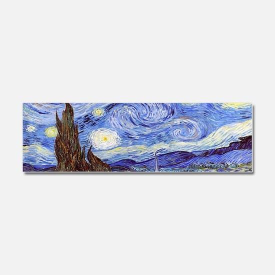 Van Gog The Starry NIght Tassel  Car Magnet 10 x 3