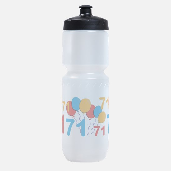 71 years old - 71st Birthday Sports Bottle